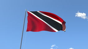 Flag of Trinidad y Tobago. Front Flag of Trinidad y Tobago, Seamless Loop, Alpha Matte available on my portfolio stock footage