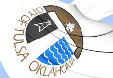 Flag of Tulsa, USA. Stock Photo