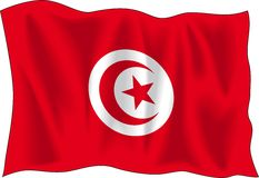 Flag of Tunisia Stock Photo