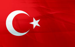 Flag of turkey Stock Photo