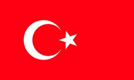 Flag of Turkey. Accurate dimensions, element proportions and col. The national flag of Turkey. Rightly proportions and colors. Vector illustration Vector Illustration