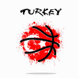 Flag of Turkey as an abstract basketball ball Royalty Free Stock Photography