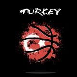 Flag of Turkey as an abstract basketball ball Stock Photo