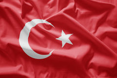 Flag of turkey. Closeup of Flag of turkey stock photos