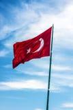 Flag of Turkey, country symbol. Flag of Turkey, country symbol royalty free stock photo
