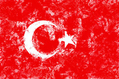 Flag of the Turkey created from splash colors Royalty Free Stock Image