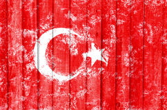Flag of the Turkey created from splash colors. Türk bayra??. Flag of the Turkey created from splash colors. Türk bayra Royalty Free Stock Image