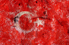 Flag of the Turkey created from splash colors. Türk bayra??. Flag of the Turkey created from splash colors. Türk bayra Stock Image