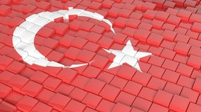 Flag of Turkey Royalty Free Stock Images