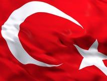 Flag of Turkey. 3d beautiful Flag of Turkey stock illustration