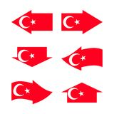 Flag of the Turkey in form arrows Royalty Free Stock Photography