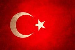 Flag of turkey, grunge background design Stock Images