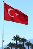 Flag of Turkey. The national flag of Turkey. Alanya. Turkey Royalty Free Stock Images
