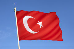 Flag of Turkey. National flag and ensign of Turkey stock photos