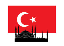 Flag of Turkey. Royalty Free Stock Photography