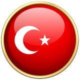 Flag of Turkey on round badge Royalty Free Stock Image
