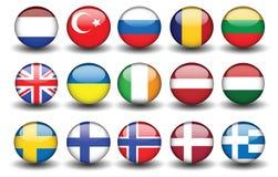 Flag turkey russia united kingdom sweden finland. Flag of turkey russia united kingdom sweden finland shadow Royalty Free Stock Photo