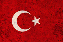 Flag of Turkey on rusty metal. Colorful and crisp image of flag on rusty metal royalty free stock photo