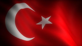 Flag of Turkey. (seamless) (digitally generated background stock video