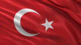 Flag of Turkey seamless loop Royalty Free Stock Photography