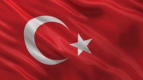 Flag of Turkey seamless loop stock footage