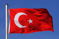 Flag of Turkey. In the sun royalty free stock photography