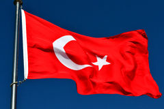 The Flag of Turkey stock photo