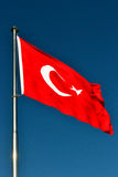 The Flag of Turkey Stock Photo