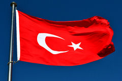 The Flag of Turkey Royalty Free Stock Photos