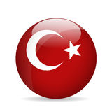 Flag of Turkey. Vector illustration. Royalty Free Stock Images