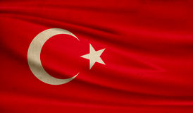 Flag of Turkey. Royalty Free Stock Images