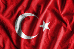 Flag of Turkey. Waving flag of Turkey - color stock image