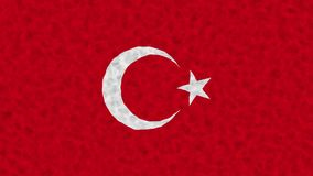 Flag of Turkey waving on water abstract composition. 15 second loop 4k 25 fps video stock video