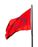 Flag of Turkey waving in wind evening Royalty Free Stock Photos