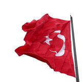 Flag of Turkey waving in wind Stock Photo