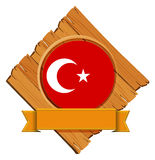 Flag of Turkey on wooden board Royalty Free Stock Image