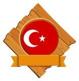 Flag of Turkey on wooden board Stock Photo