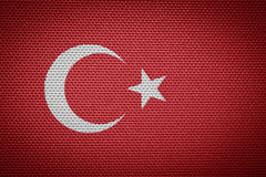 Flag Turkey royalty free illustration