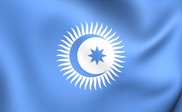 Flag of Turkic Council Royalty Free Stock Images