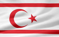 Flag Of The Turkish Republic Of Northern Cyprus Stock Photo