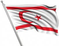 Flag of the Turkish Republic of Northern Cyprus vector illustration
