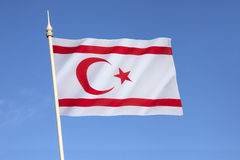 Flag of the Turkish Republic of Northern Cyprus Royalty Free Stock Photos