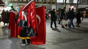 Istanbul. the Turkish flag. Flag, turkish, turkey, istanbul country national red star asia stock video footage