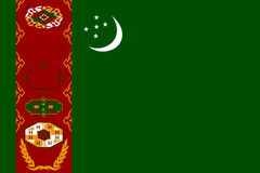 Flag of Turkmenistan Stock Photos