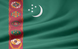Flag of Turkmenistan Royalty Free Stock Images