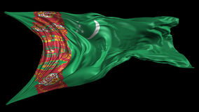 Flag of Turkmenistan stock footage