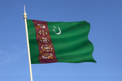 Flag of Turkmenistan - Central Asia Stock Images