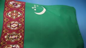 Flag of Turkmenistan - Central Asia stock video footage