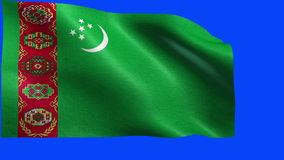 Flag of Turkmenistan - LOOP Royalty Free Stock Photos