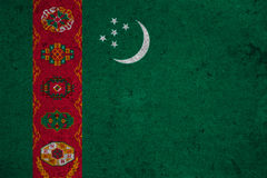 Flag Turkmenistan Royalty Free Stock Images